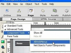 AllWebMenus NetObjects Fusion component 1.0 Screenshot