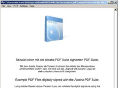 Aloaha PDF Signator 6.0.132 Screenshot