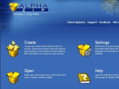 Alpha ZIP 1.3 Screenshot
