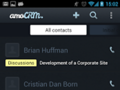 amoCRM - Contacts and Leads 1.9 Screenshot