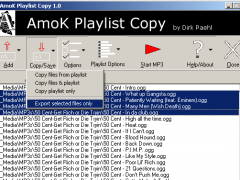 AmoK Playlist Copy 2.01 Screenshot