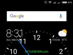 Review Screenshot - Clock Wallpaper – Have an Analog Clock on Your Phone's Home Screen