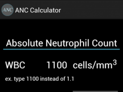 ANC Calculator 1.0 Screenshot