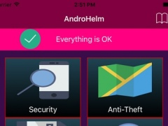 AndroHelm - Mobile Security, Backup, Private Vault and Locate Device 1.0 Screenshot