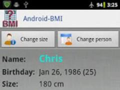 Android-BMI 2.4 Screenshot
