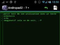 andropad2 1.3.6 Screenshot