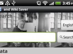 andWikiSaver 1.1.1 Screenshot