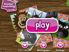 Animal matching PRO for kids 1.6 Screenshot