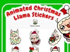 Animated Christmas Llama Stickers 1.1 Screenshot
