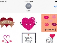 Animated SPARKLEs & GLITTERs for Vday Stickers 1.0 Screenshot