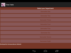 Anna University Time Table 1.1.1 Screenshot