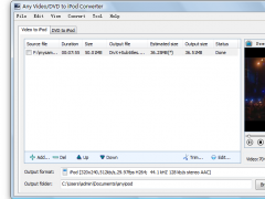Any Video/DVD to iPod Converter 2.0.2.0 Screenshot