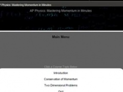 AP Physics: Momentum 1.0 Screenshot