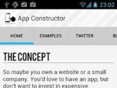 App Constructor Demo 1.0 Screenshot
