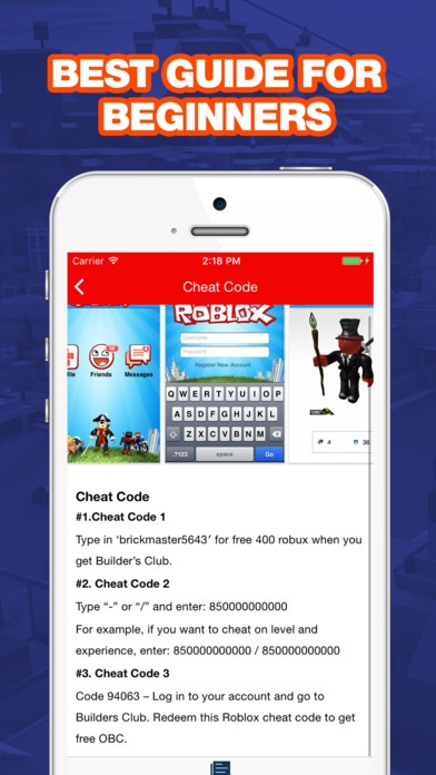 Free Cheats For Roblox Free Robux Guide Free Iphone - App For Roblox Users 20 Free Download