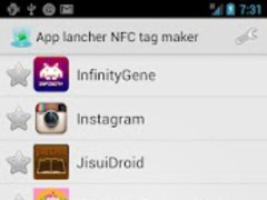 App lancher NFC tag maker 1.0 Screenshot