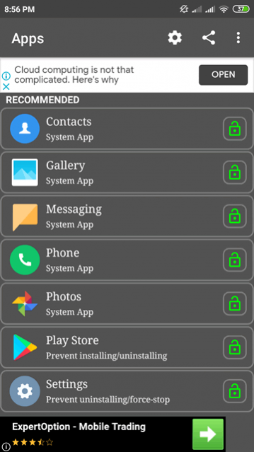 App Lock Fingerprint Simulator