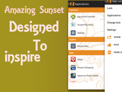 App Locker Sunset Theme 1.0 Screenshot