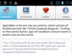 "AppCobber - ""one-tap"" vpn  Screenshot"