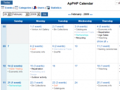 PHP Events Calendar Control 3.7.7 Screenshot