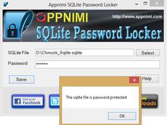 Appnimi SQLite Password Locker 1.0 Screenshot