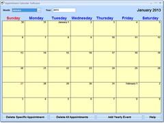 Appointment Calendar Software 7.0 Screenshot