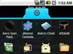 Aqua Alien Theme aHome dxtop 1 Screenshot