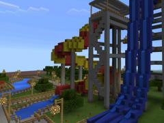 Aquapark map for Minecraft 1.16 Screenshot