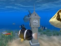 Aquarium Clock 3D Screensaver 1.0.2 Screenshot