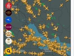 Arab Radar Free : Emirates, Air Arabia, Qatar, Etihad, Saudi, Royal Jordanian, Kuwait Airways Live Flight Radar & Status 4.0 Screenshot