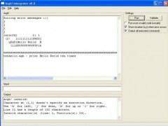 Argh! interpreter in wxHaskell 0.8 Screenshot