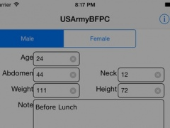 army body fat percentage calculator for free download