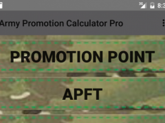 Army Promotion Calculator Pro 1.03 Screenshot