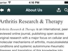 Arthritis Research & Therapy 3.02 Screenshot
