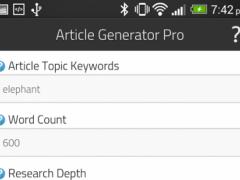 Article Generator Pro 1 Screenshot