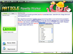 Article Rewrite Worker 1.1.3.25 Screenshot