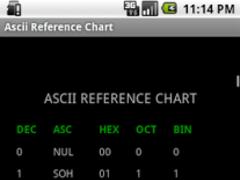 Ascii Reference Chart 1.2 Screenshot