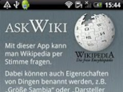AskWiki -voice recognition 2.2 Screenshot