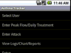 Asthma Tracker & Log MultiUser 2.1.3 Screenshot