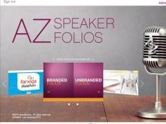 AstraZeneca Speaker Folio 1.1 Screenshot