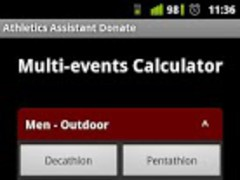 Athletics Assistant donate 1.3.1 Screenshot