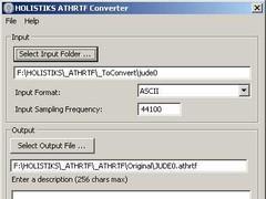 ATHRTF Converter 1.01 Screenshot