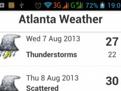Atlanta Weather 1.1 Screenshot
