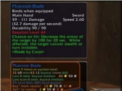Auctioneer Addon for World of Warcraft 3.0.11 Screenshot