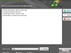 Audio Convert Merge Free 9.7.3 Screenshot