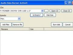 Audio Data Burner OCX 2.0 Screenshot