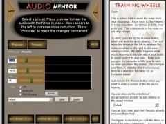 Audio Mentor Noise Reduction Software 1.4 Screenshot
