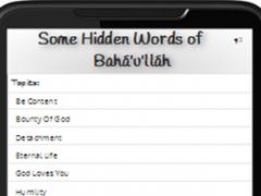 AudioBahai - Some Hidden Words 1.0.3 Screenshot