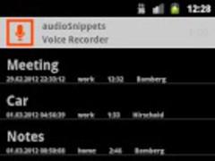 audioSnippets VoiceRecorder 1.8.2.8 Screenshot