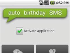 Auto Birthday SMS 1.3 Screenshot